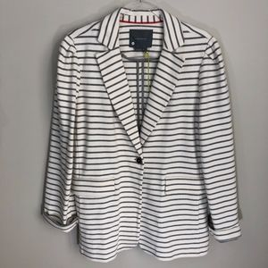 Anthropologie Françoise Knit Striped Blazer Jacket